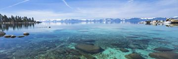 Crystal clear waters at Lake Tahoe, California
