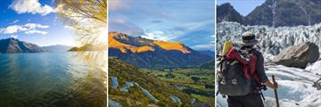 Lake Wakatipu, Arrowtown & Fox Glacier scenery