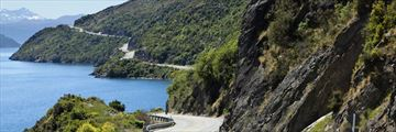 Winding coastal roads near Lake Wakatipu