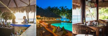Laluna, Couple at Sunset Bar, Sunset Bar and Pool, Restaurant Overlooking Beach