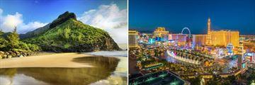 Scenery in Kauai, Hawaii & Las Vegas, Nevada