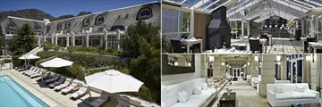 Le Franschhoek Hotel & Spa, Hotel Pool, Le Verger Restaurant and Lounge and Bar