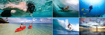 Snorkeling, Body Boarding, Scuba Diving, Sailing, Surfing and Kayaking at Lomani Island Resort