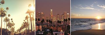Sunset Blvd, City Skyline & Malibu Beach, Los Angeles