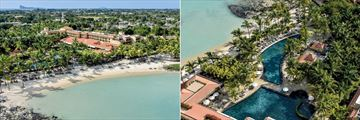 Mauricia Beachcomber Resort & Spa, Aerial View of Resort and Pools