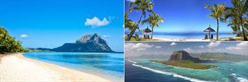 Mauritius beaches & Island aerial view