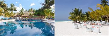 Meeru Island Resort & Spa, Dhoni Bar Pool and Beach