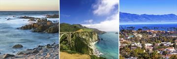 Monterey Bay, Bixby Bridge & Santa Barbara, California