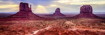The landscapes of Monument Valley