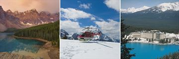 Moraine Lake, Banff Helicopter Tour & Fairmont Chateau in Lake Louise