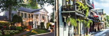 Graceland, Memphis and the French Quarter in New Orleans