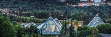 Muttart Conservatory Pyramids in Edmonton