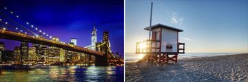 Brooklyn Bridge, New York & Cocoa Beach, Florida