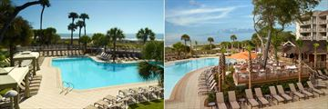 Adult Pool and Bouy Bar at Omni Hilton Head Oceanfront Resort