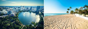 Lake Eola and Fort Lauderdale beach