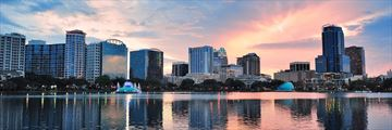 Sunrise over Lake Eola, Orlando