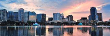 Sunrise over Lake Eola, Orlando