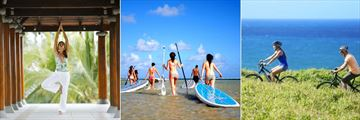 Outrigger Mauritius Beach Resort, Yoga, Water Sports and Electric Bikes