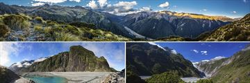 Arthur's Pass, Fox Glacier & Franz Josef Glacier, South Island
