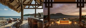 Park Hyatt St. Kitts, The Fisherman's Village Bar and The Great House Outside Fireplace