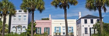 Pastel colour homes in Charleston, South Carolina