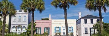 Pastel colour homes in Charleston, South Carolina