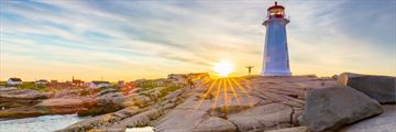 Peggy's Cove at sunset, Nova Scotia