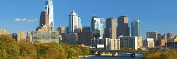 Philadelphia skyline and Schuylkill River, Pennsylvania