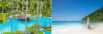 Phuket Marriott Resort & Spa, Merlin Beach, Main Outdoor Pool Bar and Tri Trang Beach
