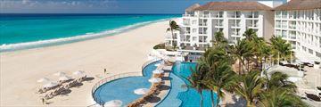 Playacar Palace, Aerial View of Resort, Pool and Beach