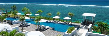 Samabe Bali, main pool overlooking the sea