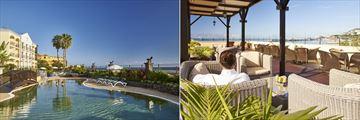 Pool and tooftop terrace at Porto Santa Maria