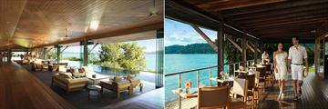 Qualia, Hamilton Island, Long Pavilion Restaurant and Pebble Beach Restaurant