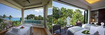 Raffles Seychelles, Spa Open Air Treatment Pavilion and Spa Couples Suite