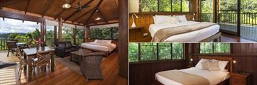 Treehouse Bedrooms at Rose Gums Wilderness Retreat