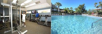 Fitness Centre and Pool at Rosen Inn International