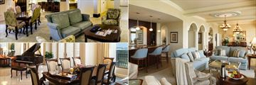 Executive Suite, Hammock Presidential Suite and Ibis Presidential Suite Living Areas at Rosen Shingle Creek