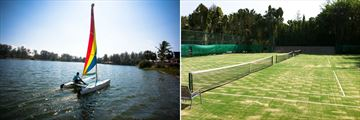 Sailing and tennis courts at Laguna Phuket