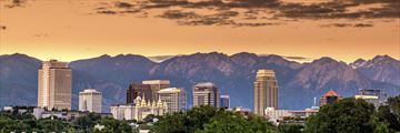 Salt Lake City at sunset