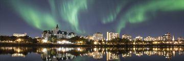 Saskatoon at night, Saskatchewan