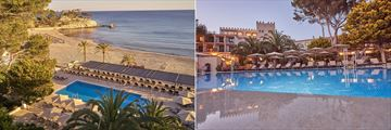 Beach and pool at Secrets Mallorca Villamil Resort