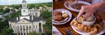 Vicksburg attractions and Louisiana cuisine