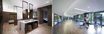 Shangri-La, Bangkok, Health Club Locker Room and Gym