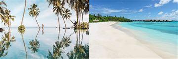 The pool and beach at Shangri-La Villingili Resort