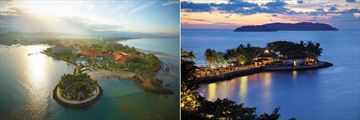 Shangri-La's Tanjung Aru Resort & Spa, Aerial View of Resort and CHI, The Spa Island