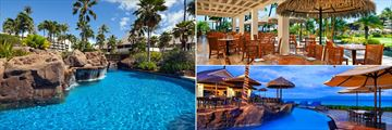 Pool, Black Rock Terrace and Clive Dive Grill at Sheraton Maui Resort