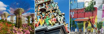 Singapore; Gardens by the Bay, Sri Mariamman Temple, Malacca Malaysia