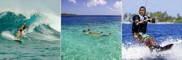 Six Senses Laamu, Surfing, Snorkeling and Wake Boarding
