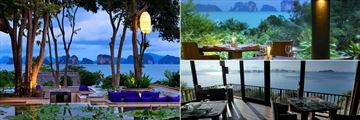 Six Senses Yao Noi, The Den, The Living Room and The Hilltop Reserve Restaurants