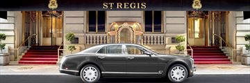 The St Regis New York, Bentley Courtesy Car and Main Entrance